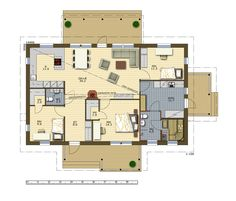 Perustiedot House Floor Plans, My Dream Home, Bungalow, Sims, Sweet Home, Houses, Flooring, Dreams, Random