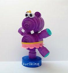 3D Quilling: Hilda Hippo