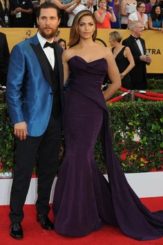 Matthew McConaughey and Camila Alves on the SAG Awards Red Carpet. [Photo by Amy Graves]