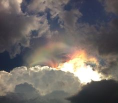 Real Rainbows and Clouds Weather Cloud, Wild Weather, Fire Rainbow, Rainbow Cloud, Dark Skies, Natural Phenomena, Weird And Wonderful, Beautiful Sky, Science And Nature