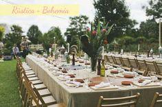 Boda Rústica y Bohemia vs Boda Rústica y Elegante. Imagen: Green Wedding Shoes