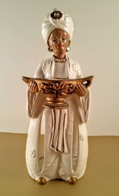 Vintage Enesco White and Gold Wise Man Magi by VintageQuinnGifts