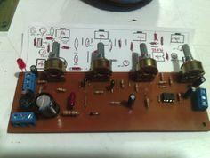 preamplificador con fuente simple y tonos a 12 voltios estereo.