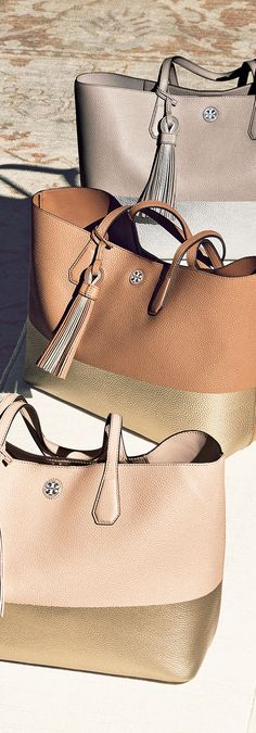 Tory Burch Colorblock Leather Tote