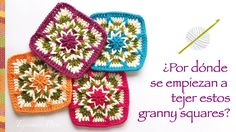 Crochet: ¿por donde se empieza a tejer este cuadrado o granny square? In...