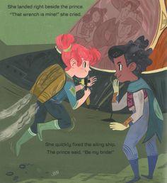Interstellar Cinderella by Deborah Underwood illustrated by Meg Hunt