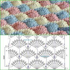 Best 12 CurlyQ Crochet's 546 media details – SkillOfKing. Crochet Bedspread Pattern, Crochet Motif Patterns, Beading Patterns Free, Crochet Diagram, Crochet Chart, Crochet Squares, Crochet Designs, Knitting Patterns, Crochet Home