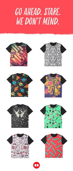 PATTERNS  Stare at these designs long enough and you might find the meaning of the universe. Or you might just get a headache. Either way, they're nice.  Graphic Tees on Redbubble
