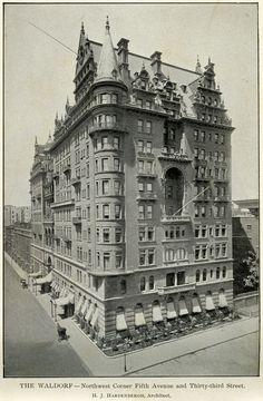 The Waldorf Hotel, New York City.