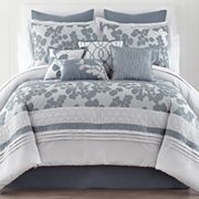 bed bath blue comforters & bedding sets