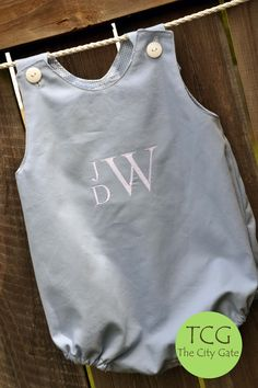 Boy Bubble with Stacked Monogram.  Visit us at www.Etsy.com/shop/TheCityGate