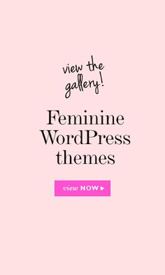 """This blog show a gallery of """"feminine"""" Wordpress themes. This is sexist and trying to say that only women should use these themes because they are feminine. They all look very gentle and clean. Why can't women pick whatever Wordpress they want and why does every women have to be """"feminine"""". Women in web design can make whatever theme they want on Wordpress and not all women are the same in the technological field."""