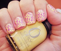 Pink and Yellow Cheetah!
