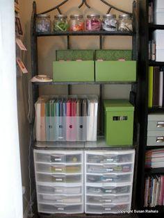 Baker's Rack for organizing scrapbook supplies