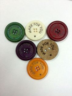 15 Piece Customized Coconut Buttons  Engraved by indiabutton