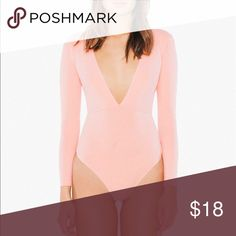 2a522b6880 AA Cotton Spandex Double V Bodysuit This bodysuit is moderately stretchy  and fits true to size · American Apparel TopsCotton Spandex BodysuitOnesieBaby ...