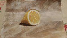 Still life lemon.  From Will Kemp art school Web tutorial