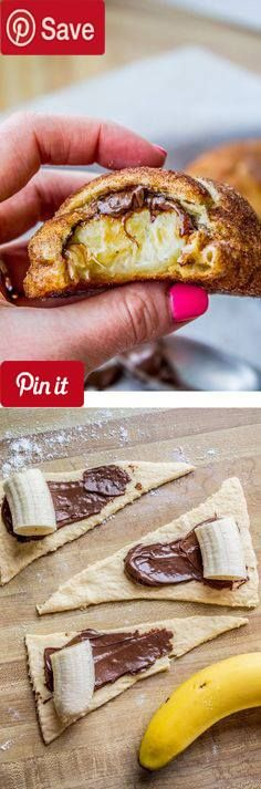NEW Nutella and Banana Stuffed Crescent Rolls - The Food Charlatan - Stuff a buttery crescent roll with banana and a schmear of Nutella roll it in cinnamon sugar and bake. #delicious #diy #Easy #food #love #recipe #tutorial #yummy DIY #Itubeudecide