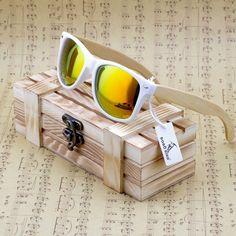 Bambus Damen Sonnenbrille günstig preiswert online kaufen Farbe weis