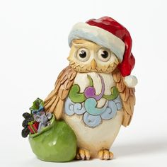 Enesco Jim Shore Mini Christmas Owl New Item # 4041105