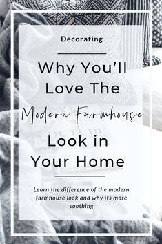 The Modern Farmhouse look is simple and easy to achieve! Learn how to get the modern farmhouse look easily. Farmhouse Style Furniture, Modern Farmhouse Design, Farmhouse Interior, The Big Comfy Couch, Old Shutters, Wide Plank Flooring, Neutral Color Scheme, Smooth Lines, Furniture Arrangement