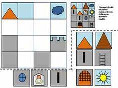 reproduire un modele math reperage ecole maternelle