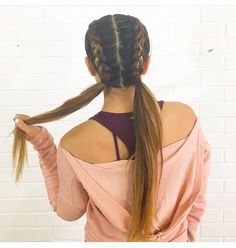 Inside-out braids Ponytails Hair love
