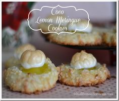 Coco Lemon Meringue Cookies ~ These flavors together are oh so deelish! Cute and fun too ~ Faith Filled Food for Moms