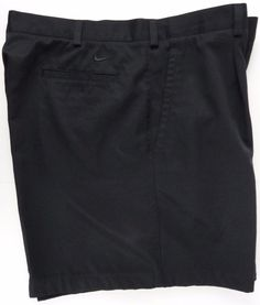Nike Golf Fit Dry Shorts Black Mens 40 Performance Wicking Double Button Closure #NikeGolf #CasualShorts
