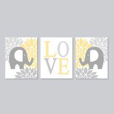 ELEPHANT Nursery Art Elephant Nursery Decor by LovelyFaceDesigns