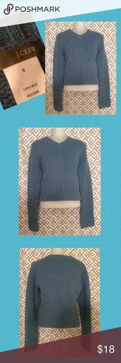 J. Crew wool sweater, S Blue-ish grey wool sweater top J. Crew Sweaters