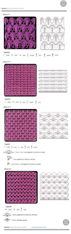 crochet stitches. by Grete Olesen