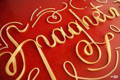 """Nous avions déjà parlé destypographies culinaires de lagraphic designer américaineDanielle Evans, aka Marmalade Bleue, avec la série """"Food Typography"""