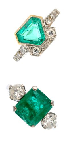 Two incredible vintage emerald and diamond rings from the upcoming auction at Fellows! Which do you love the most?