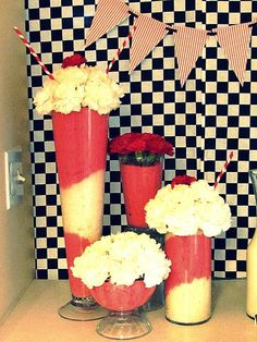 DIY Ice Cream Floral Arrangements...I'd rather it be real so I can eat it!