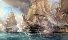Trafalgar - 1:00 pm The decisive moment - Victory breaks the Franco-Spanish line and fires a deadly broadside into Bucentaure's stern. #2