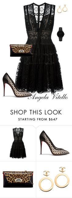 """Untitled #801"" by angela-vitello on Polyvore featuring Elie Saab, Christian Louboutin, Chanel and CLUSE"