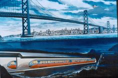 BART, a speeding bullet underneath the ocean. Islands In The Pacific, Pacific Ocean, Bay Area Rapid Transit, San Francisco Bay, Sierra Nevada, 40th Anniversary, Northern California, Golden Gate Bridge, Photo Galleries