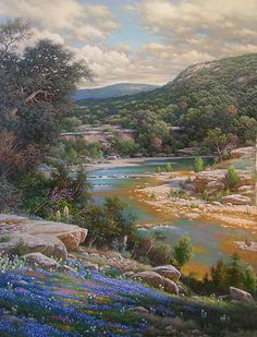 Cliffs of the Nueces - Larry Dyke - World-Wide-Art.com