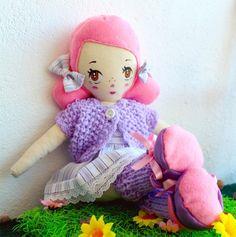 Mimi doll // by Je Suis Mimi  https://www.etsy.com/listing/171741765/mimi-handmade-cloth-art-doll #ragdoll #handmade