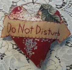 Pillow Doorknob Pillow DO NOT Disturb Sign by SuzyQsVintageShop, $4.25