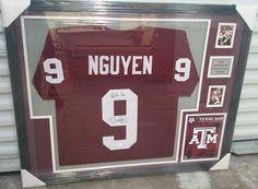 Framed jersey of #AggieFootball legend @DatNguyen #GigEm #FramedJersey #JerseyFraming