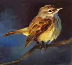 Winter Sinking Strokes: Pine Warbler