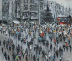 Art Google, Crowd, Times Square, Travel, Painting, Artists, Google Search, Viajes, Painting Art