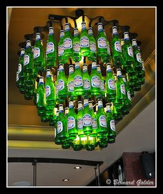 .cool chandelier for a man cave basement. Clearly this would take a while...