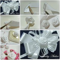 How to make Rose of Satin Ribbon DIY tutorial instructions, How to, how to do, diy instructions, crafts, do it yourself, diy website, art project ideas