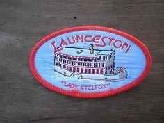 Launceston Lady Stelfox steam paddle boat souvenir cloth patch badge Tasmania