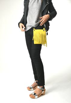 Love this hip bag with fringe by elphile!!