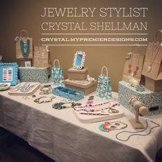 Jewelry Table Display Premier Designs Jewelry Crystal.mypremierdesigns.com #pdstyle #pdlife
