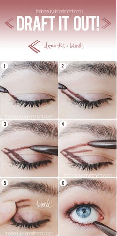 Try drawing a double arrow using an eyeshadow pencil (then blending!) to get a fast and neat smoky eye. | 7 Ridiculously Easy Makeup Ideas That Will Simplify Your Life